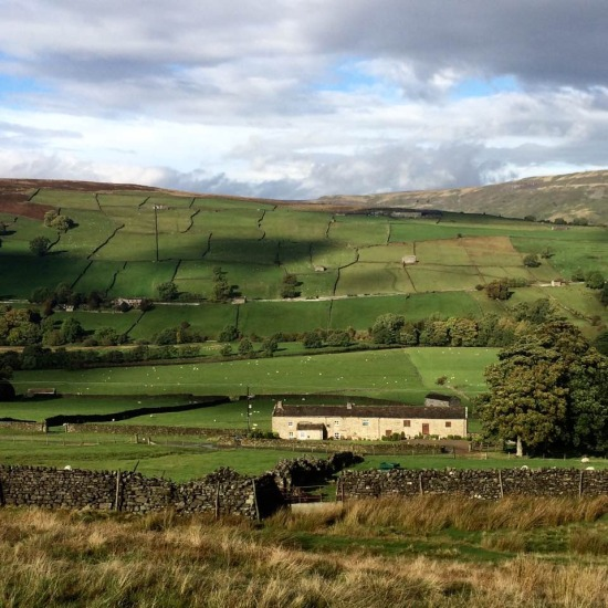 Far reaching views across Swaledale