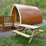 Camping pod with deck
