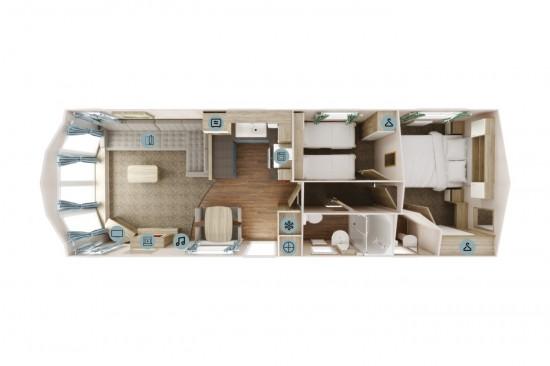 Floorplan, Willerby Sierra